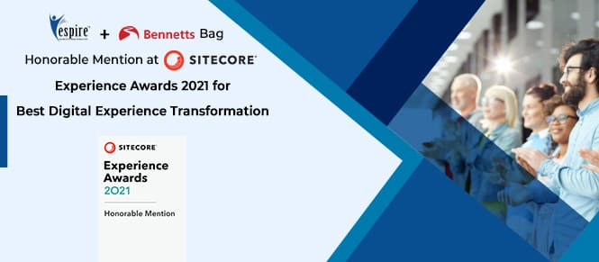 Espire infolabs bags honorable mention award at sitecore experience awards 2021 insight