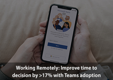 Working remotely improve time to decision by 17percent with teams adoption