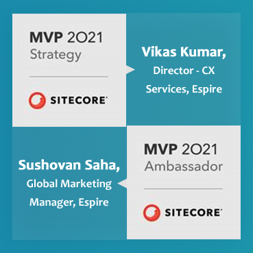Espire infolabs vikas kumar and sushovan saha named sitecore most valuable professional