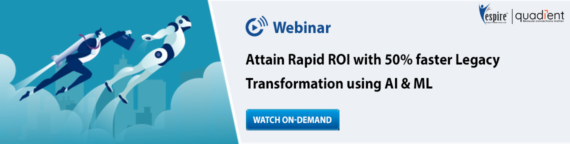 Attain rapid roi with 50percent faster legacy transformation using ai and ml blog banner