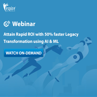Attain rapid roi with 50percent faster legacy transformation using ai and ml spotlight