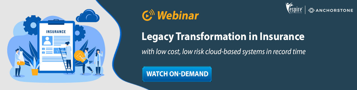 Legacy Transformation in Insurance with low cost, low risk cloud-based systems in record time