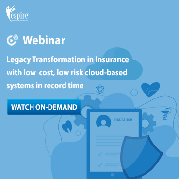 Legacy transformation in insurance with low cost low risk cloud based systems in record time spotlight